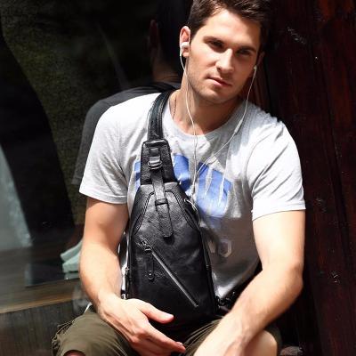 【都得利正品】箱包【买一送四】男士胸包2018春款旅?#24615;?#21160;男士包包休闲时尚男包单肩包防盗胸前挎包