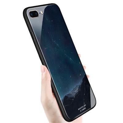 苹果iPhone71壳7Plus套8玻璃壳星空女男防摔八iPhone8软壳7P星空