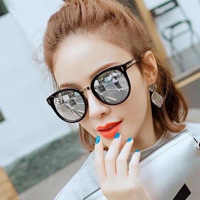 2018韩版偏光墨镜大框明星款彩膜太阳镜女圆脸网红款眼镜显瘦