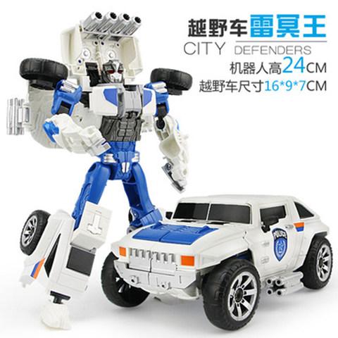 五合一变形金刚合金机器人直升飞机警车摩托车快艇越野车玩具车