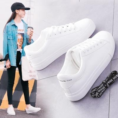 【多件更优惠】每个女孩子都想要一双舒服又漂亮的鞋子,,显高显瘦不累脚,青春的时代.没有一双小白鞋.怎么显示你会打扮.自打版型出来,我们店里的女孩子都订了一双,不管材料做工我们都经过多次测试而选定的.跑量.穿上不磨脚,应多数买家反馈鞋带问题,已改五孔介意慎拍,有你们我们将做的更好。